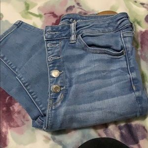 American eagle high waisted Button up jeans